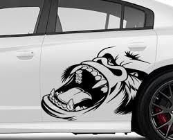 Gorilla Face Decal For 2015 2020 Dodge Challenger Charger Hellcat Srt Ebay