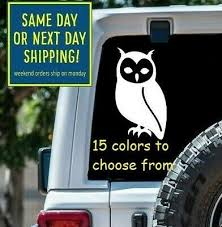 8 Sizes Snowy Owl Hedwig Car Window Decal Sticker Laptop Macbook Tablet Wall Ebay