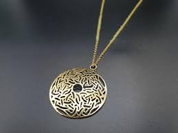 24k gold plated necklace large gold
