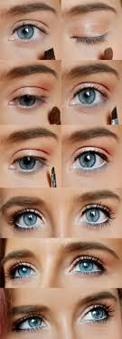 how to rock makeup for blue eyes easy