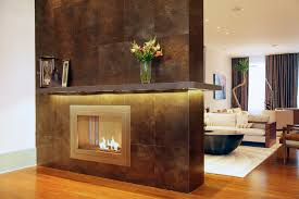 two sided fireplace design by hearthcabinet