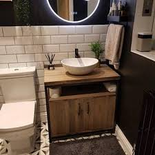 industrial bathroom vanity unit