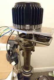electrifying a vine outboard motor