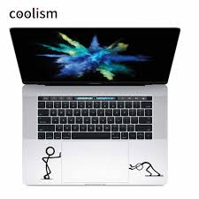 Push Stick Man Humor Trackpad Decal Vinyl Laptop Sticker For Macbook Pro Air Retina 11 12 13 15 Inch Mac Notebook Touchpad Skin Stickers For Macbook Laptop Stickervinyl Laptop Sticker Aliexpress