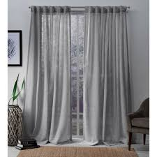 sheer hidden tab top curtain panel
