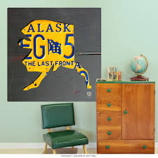 Alaska License Plate Style State Wall Decal At Retro Planet