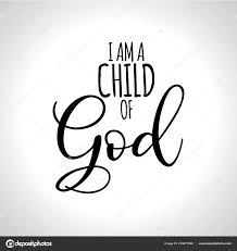 child god hand written vector calligraphy lettering text