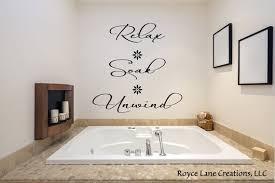 Relax Soak Unwind Bathroom Wall Decal Relax Soak Unwind Etsy