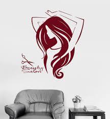 Vinyl Wall Decal Beauty Salon Woman Hair Barbershop Stickers Ig4164 Vinyl Wall Decals Beauty Salon Wall Decals