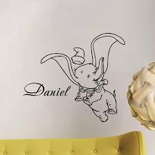 Amazon Com Dumbo Wall Decal Personalized Baby Name Poster Custom Sign Quote Disney Elephant Vinyl Sticker Gift Child Room Decor Playroom Wall Made In Usa Fast Delivery Home Kitchen