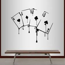 Vinyl Decal Playing Cards Poker Game Aces Suits Casino Gambling Mural Decor 2220 Ebay