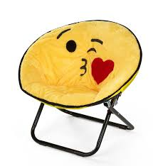 Zoomie Kids Noga Emoji Kissy Face Kids Saucer Chair Wayfair