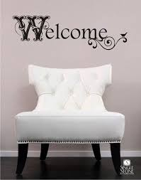 Welcome Wall Decal Vintage Sign Vinyl Text By Singlestonestudio 20 00 Wall Decals Vinyl Wall Vinyl Signs