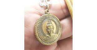 lord buddha amulet pendant coin blessed
