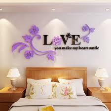 Creative Love Flower Tv Background Wall Sticker Sale Price Reviews Gearbest