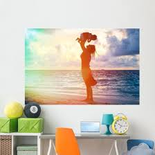 Mother And Daughter Having Wall Decal Wallmonkeys Com