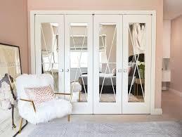 x trim on mirrored closet doors design