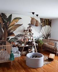 Tropical Wallpaper In The Kid S Room Beautifully Captured By Nancy Caouette Nancecaouette Tropicalwallp Kids Room Wallpaper Kids Jungle Room Baby Room Decor
