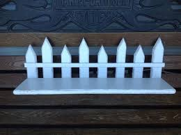 White Shabby Chic Garden Decor Picket Fence Style Shelf Etsy Shabby Chic Garden Decor Shabby Chic Garden White Shabby Chic