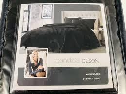 loop black standard sham pillow case