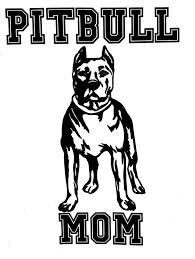 Pit Bull Mom High Quality Vinyl Pitbull Dog Window Decal Sticker