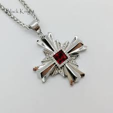 stone cool cross pendant necklace