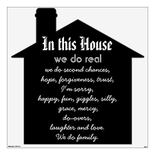 In This House Quote Wall Decal Zazzle Com