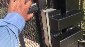 Electromagnetic Gate Lock Install Www Diazgates Com Youtube