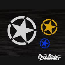 Five Pointed Jeep Star Decal Car Styling Reflective Waterproof Colorful Body Sticker Refitting Exterior Decals For Jeep Cherokee Renegade Etc Geeksticker