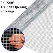 Mtb Galvanized Hardware Cloth 48 In X 25 Ft 1 4 X1 4 Inch Mesh 23ga Decorative Fences