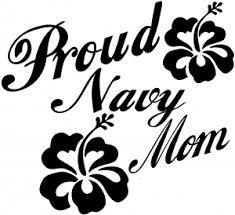 Proud Navy Mom Hibiscus Flowers Car Or Truck Window Decal Sticker Rad Dezigns
