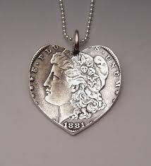 pendant made from morgan silver dollar