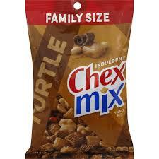 chex mix indulgent turtle snack mix