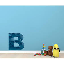 Monogram Blue Letter B Wall Decal Vinyl Decal Car Decal Idcolorb 25 Inches Walmart Com Walmart Com