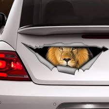 Lion Car Decal Lion Sticker Vinyl Decal Car Decal Funny Etsy