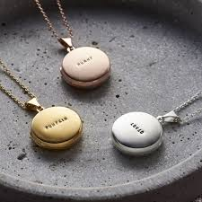 personalised small round locket