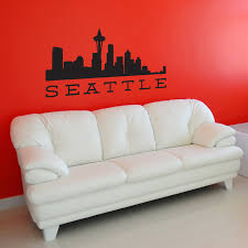 Seattle Skyline Wall Decals Stickers Graphics