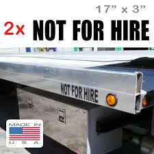 Vortexsigns 2 Pcs 17 X 3 Not For Hire Transport Stickers Decals For Trucks Vans Limos And Buses On Galleon Philippines