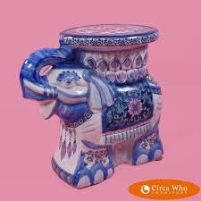 petite blue white elephant garden