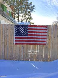 American Flag Hanging On Residential Home Fence In Claymont Delaware News Photo Getty Images