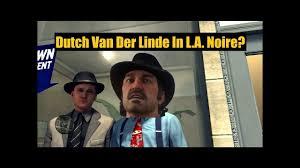 Actor Benjamin Davis (Dutch Van Der Linde) In L.A. Noire - YouTube