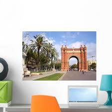 Barcelona Wall Decal Design 3 Wallmonkeys Com