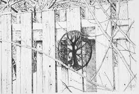 This Is A Drawing Of The Side Fence In Brenda Beattie Paintings And Other Artwork Facebook