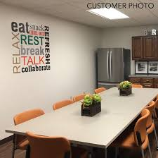Motivational Office Wall Decal Break Room Word Collage