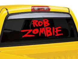 Rob Zombie Vinyl Wall Decal Rob Zombie Car By Thevinylstickershop Wall Decals Vinyl Wall Decals Vinyl Wall