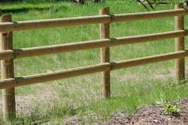 Treated Post And Rail With Wire Ranch Fencing Farm Fence Wood Fence Post