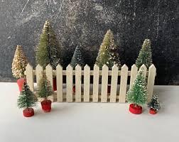 Christmas Wood Fence Etsy