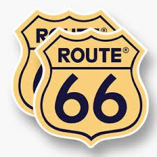 2x Route 66 Vinyl Decal Sponsor Sticker Us Interstate Shield Road Sign United Ebay