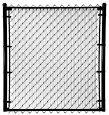 6 Ft Black Chain Link Fence Gate