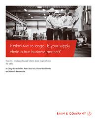 It takes two to tango: Is your supply the table.